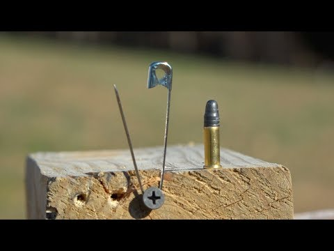 can-you-open-a-safety-pin-with-a-bullet?---trick-shot