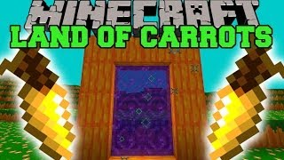 Minecraft: LAND OF CARROTS (DIMENSION, CARROT LAUNCHER, & MORE!) Mod Showcase