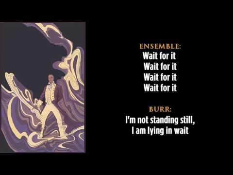 Hamilton | 13. Wait for It | Lyrics