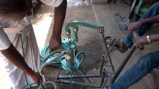 Pedal power water pump mechanical engineering project topics