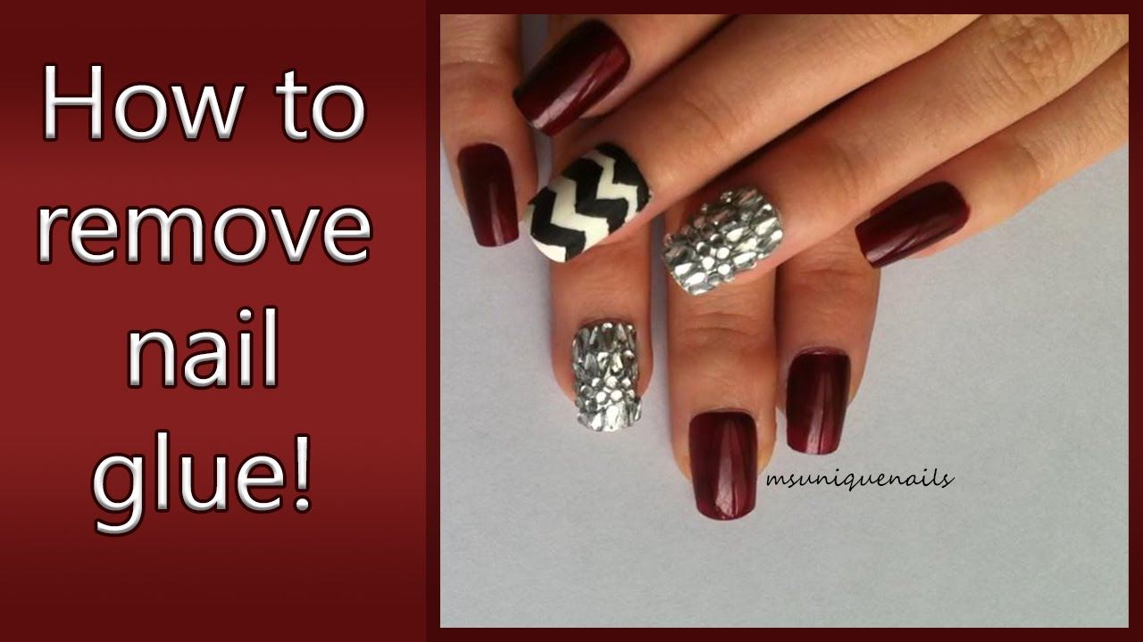 DIY:How to remove nail glue from your nails! - YouTube