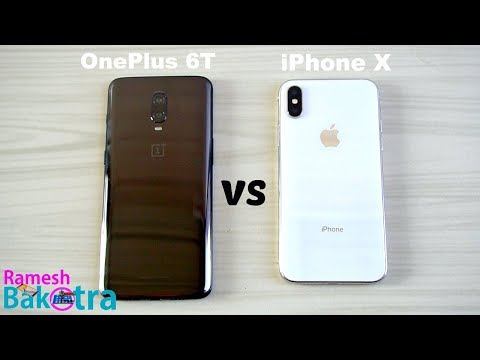 OnePlus 6T vs Apple iPhone X SpeedTest and Camera Comparison