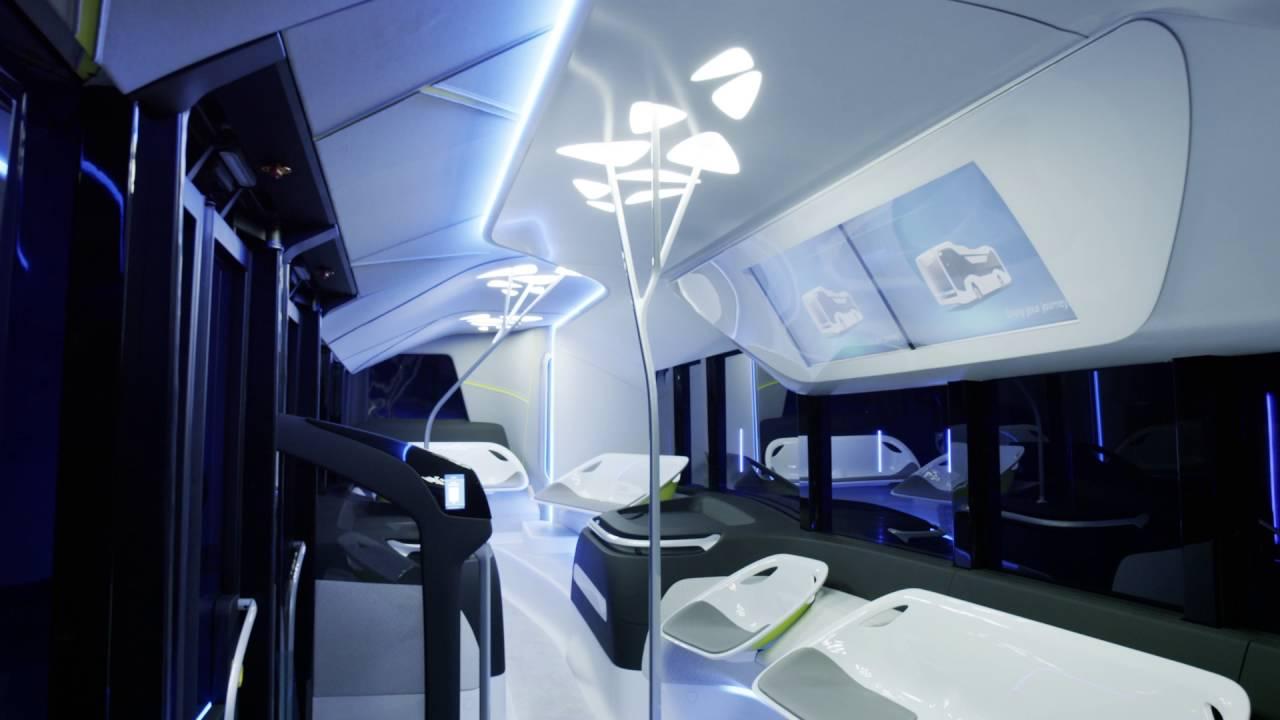 Mercedes Benz Future Bus Interior Design Youtube
