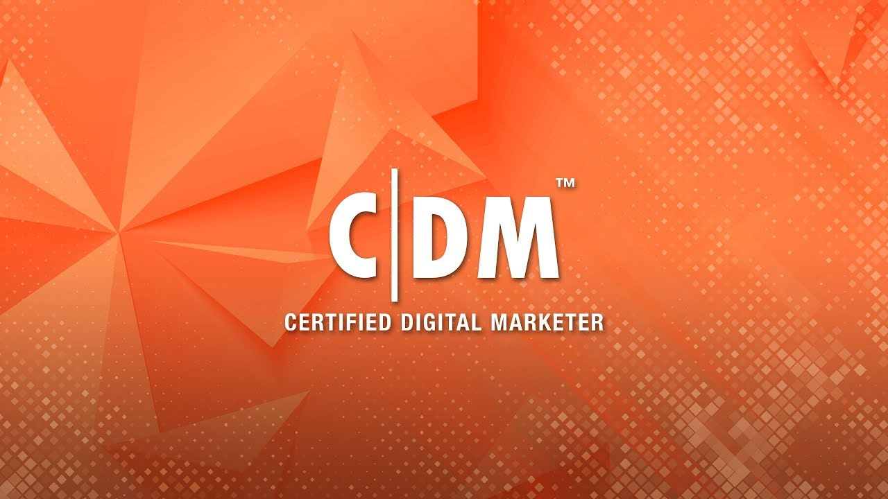 Certified Digital Marketer Cdm Meet Your Instructor Youtube
