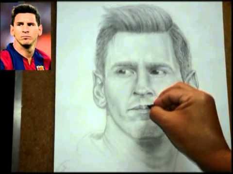 LIonel Mesi dibujo en lapiz  YouTube