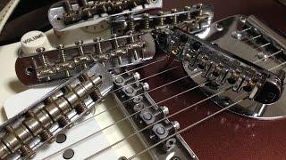 ジャズマスターのいろんなブリッジを試してみました jazzmaster bridge comparison