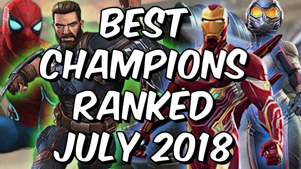 70dc9c97b784 Best Champions Ranked July 2018 - Seatin s Tier List - Marvel Contest Of  Champions