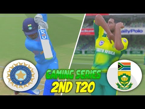 INDIA vs SOUTH AFRICA 2018 2ND T20 - ASHES CRICKET 17 (GAMING SERIES)