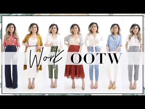 Spring Summer Work Outfits of the Week Fashion Lookbook | Work Outfit Ideas OOTW | Miss Louie