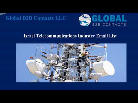 Israel Telecommunications Industry Email List