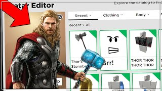 MAKING GOD THOR A ROBLOX ACCOUNT (ROBLOX) THOR IN JAILBREAK!