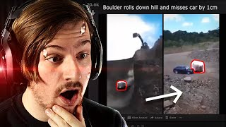 Reacting to the most IMPOSSIBLE things caught on camera EVER!