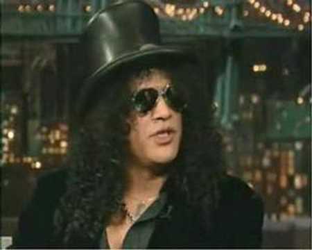 Slash Talks About Axl Rose – David Letterman Show