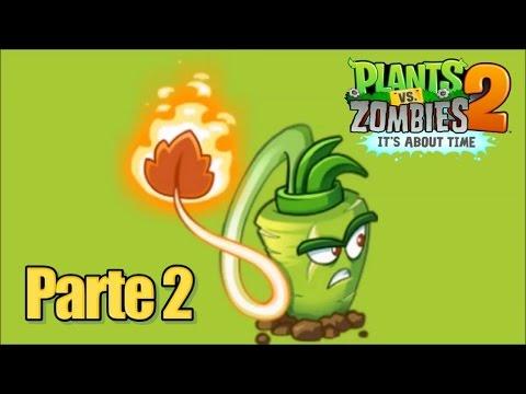 Plants vs Zombies 2 - Parte 2 Tornado Temporal - Español