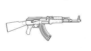 How to Draw a Kalashnikov AK-47 / Как нарисовать Автомат Калашникова АК-47(Drawing Channel - https://www.youtube.com/channel/UCaZm6IvtL9zNeDwQi571asA/videos Канал для рисования ..., 2015-04-17T11:44:27.000Z)