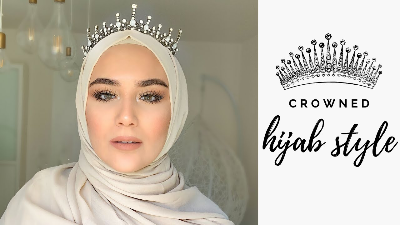 Also, to accentuate the entire look don't miss to wear a princess crown and look like a million bucks! Crowned Wedding Hijab Style Tricks I Tacli Gelinbasi Puf Noktalari I Kopftuch Mit Krone Hochzeit Youtube