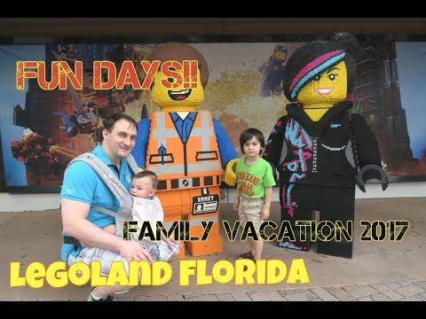 #Hillfamily #vlog13 our family vacation 2017 | Legoland Florida / we love Legoland hotel