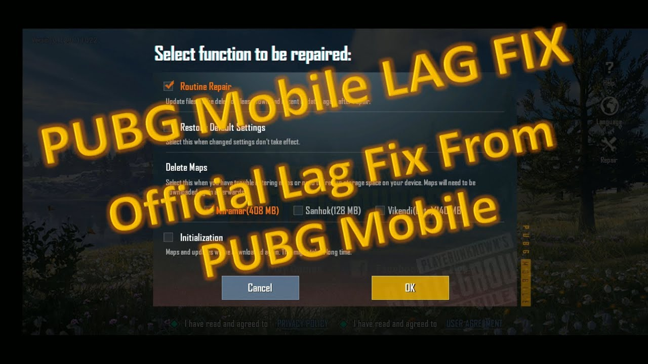 pubg mobile fix lag | official lag fix update from pubg mobile 2019