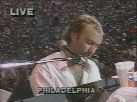 Phil collins live aid against all odds