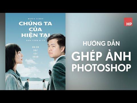 Cắt ghép ảnh photoshop vào poster Chúng ta của hiện tại - Sơn Tùng MTP