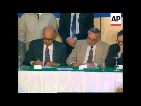 Egypt/Israel/Gaza - Signing Of Accord And Reaction