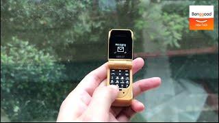 LONG-CZ The Smallest Flip Phone Bluetooth Dialer FM Magic Voice Handsfree Earphone Mini Card Phone