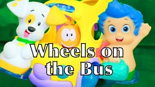 WHEELS ON THE BUS ♥ SONG Bubble Guppies Toy Kids Bus Swim-Sational Bus Puppy Gil Mr. Grouper