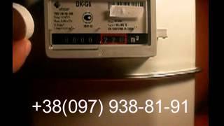 Остановка газового счетчика Elster BK G6(, 2013-10-16T18:16:44.000Z)