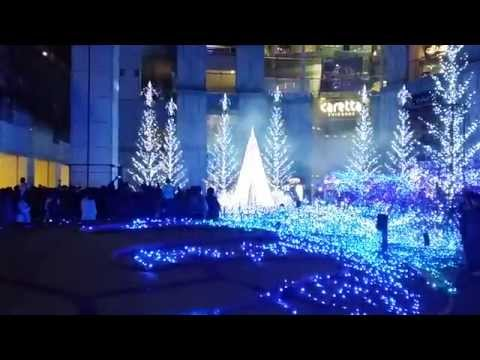 Musical Christmas tree light show