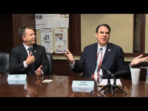 Alan Grayson & Todd Long get chippy during Editorial Board interview