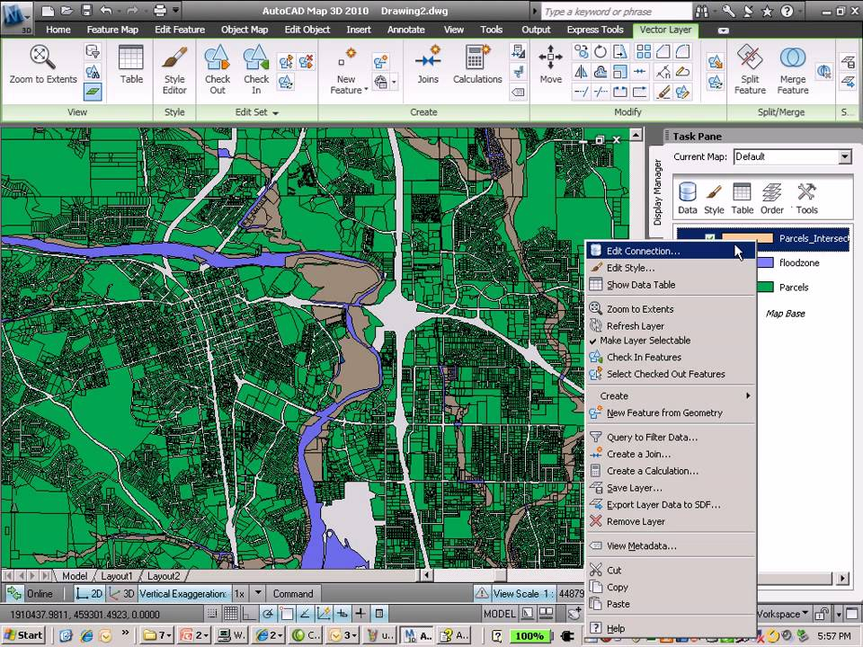 AutoCAD Map 3D and the spatial analysis  flood analysis   YouTube
