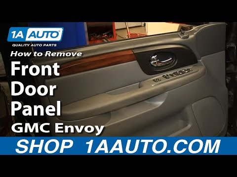 How To Remove Front Door Panel 02 09 Gmc Envoy Youtube