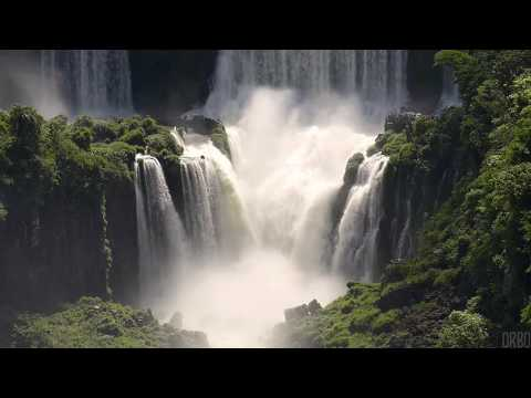 [10 Hours] Iguazu Falls Brazil-Argentina w/ Rainforest Sounds [HD] SlowTV