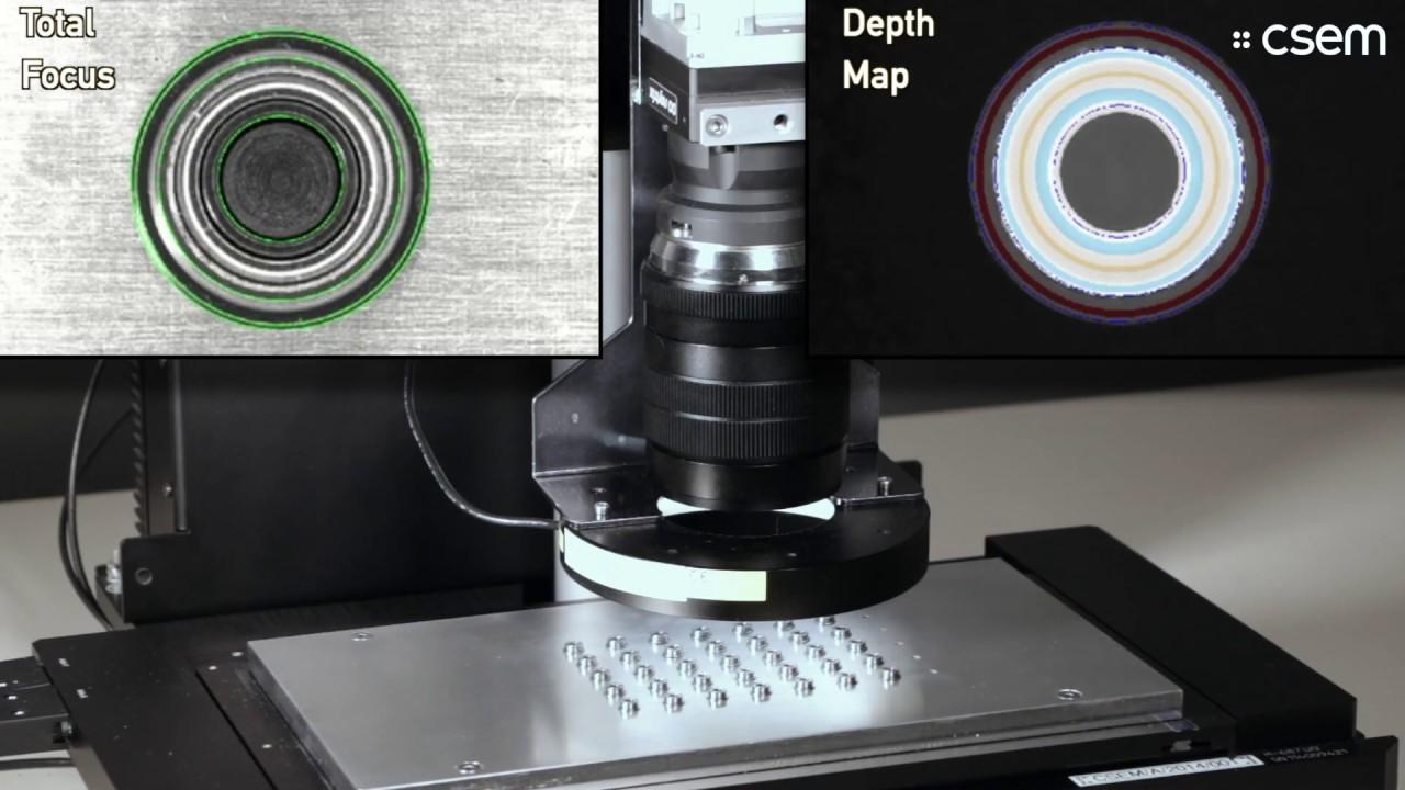 CSEM VISARD: high-speed 3D in-line quality inspection of bearings