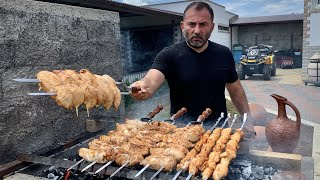 CHICKEN MEAT on the GRILL. JUICY RECIPE. ENG SUB.