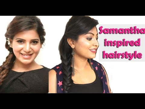 Actress Samantha Inspired Hairstyle Tutorial Quick Party Hairstyle