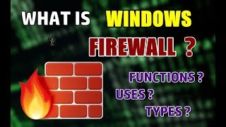 What Is Windows Firewall? | Functions And Importance | Computer Security