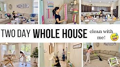 TWO DAY WHOLE HOUSE CLEAN WITH ME 2020 // EXTREME CLEANING MOTIVATION // Jessica Tull cleaning