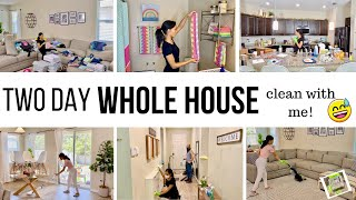 *TWO DAY* WHOLE HOUSE CLEAN & ORGANIZE WITH ME 2020 // CLEANING MOTIVATION // Jessica Tull cleaning