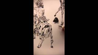 Kim Jung Gi - Trojan Horse was a Unicorn live drawing part 1