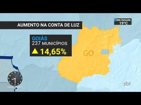 Conta de luz vai ficar mais cara para consumidores de SP, GO e DF | SBT Brasil (23/10/17)
