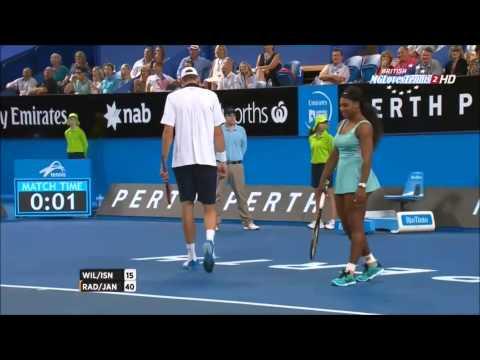 ATP servers against WTA players