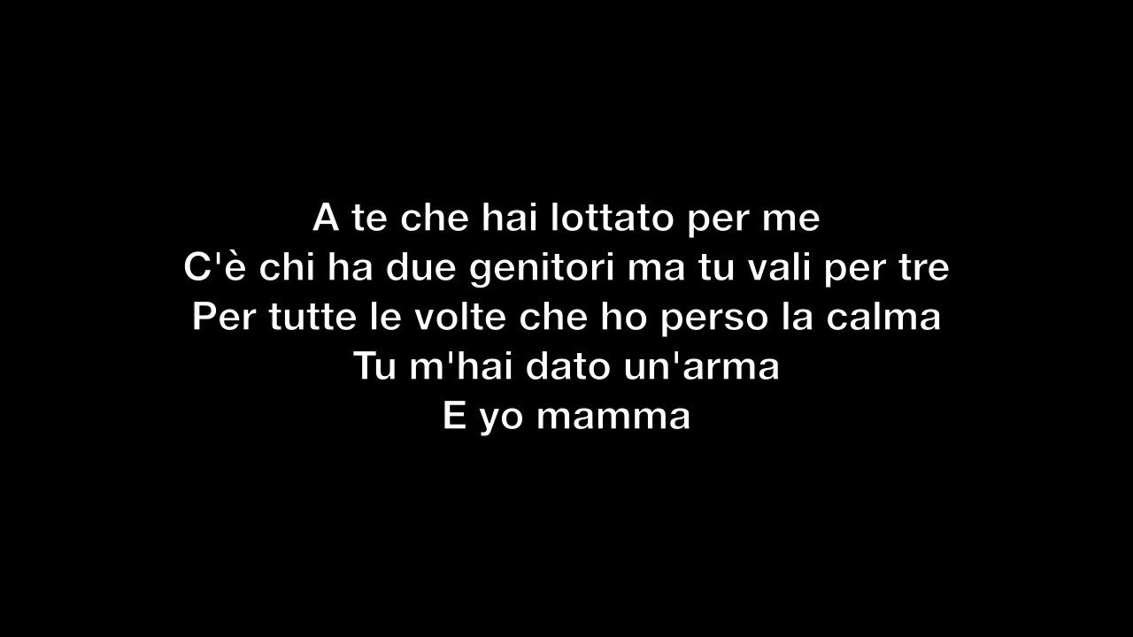 Coez E Yo Mamma Testo