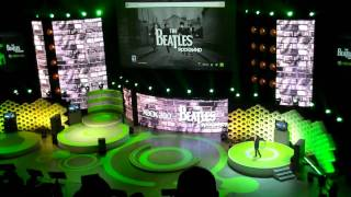 E3 Xbox media conference Beatles Rock Band game play and Paul and Ringo appearance