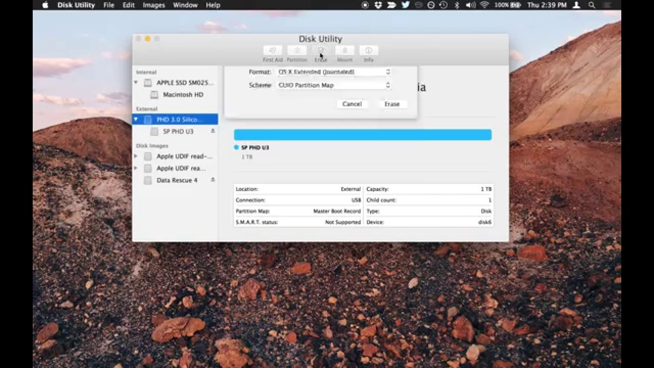 Format an External Hard Drive or USB Flash Drive for Mac OS X