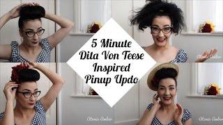 5 Minute Dita Von Teese Inspired Pinup Updo | Atomic Amber