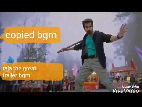 Raja The Great Teaser Bgm copied - Ravi teja , Mehreen | dilraju