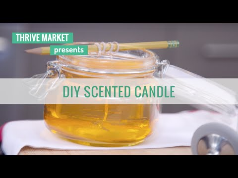 How to make easy scented candles at home