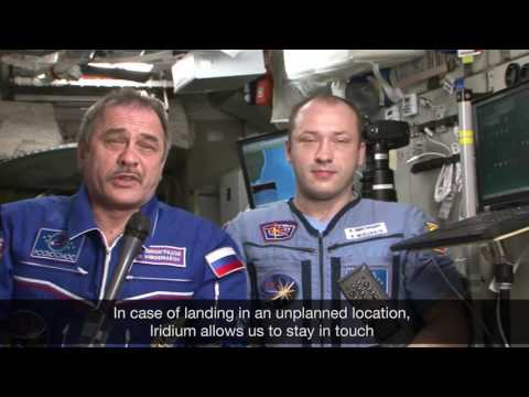 An Iridium Connection in Space   Message from Pavel Vinogradov  Alexander Misurkin