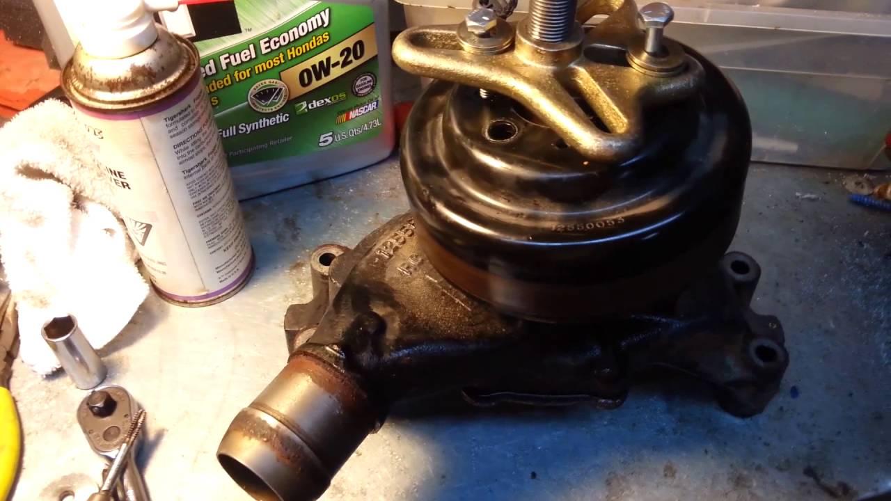 Replacing Water Pump On 81 Vortec Workhorse Chassis W24 2005 Wiring Diagram Radiator Fans Winnebago Voyage 38j